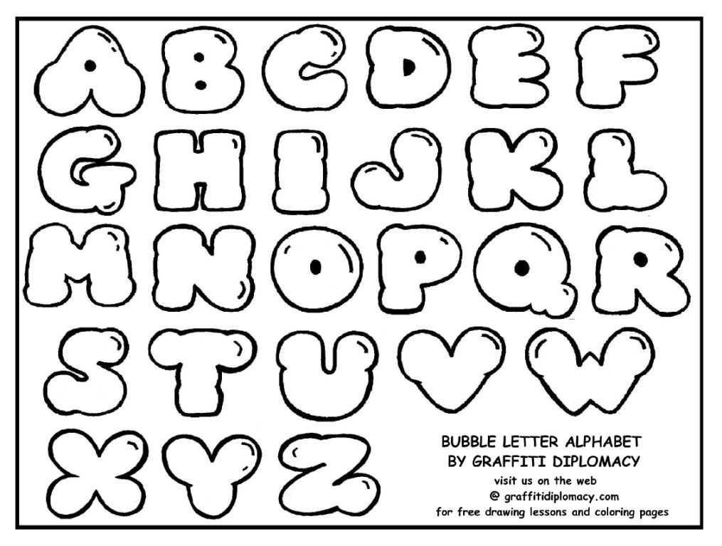 4 Images of Printable Graffiti Alphabet Sheet