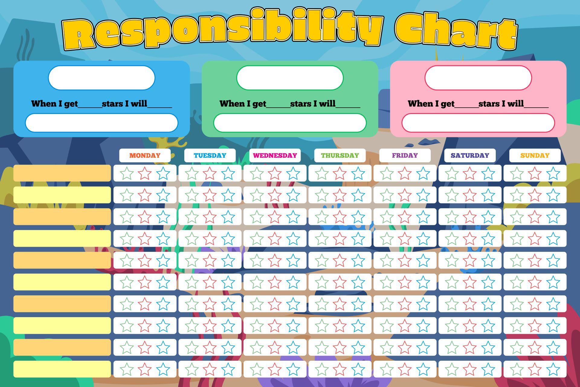 Blank Printable Chore Charts Kids