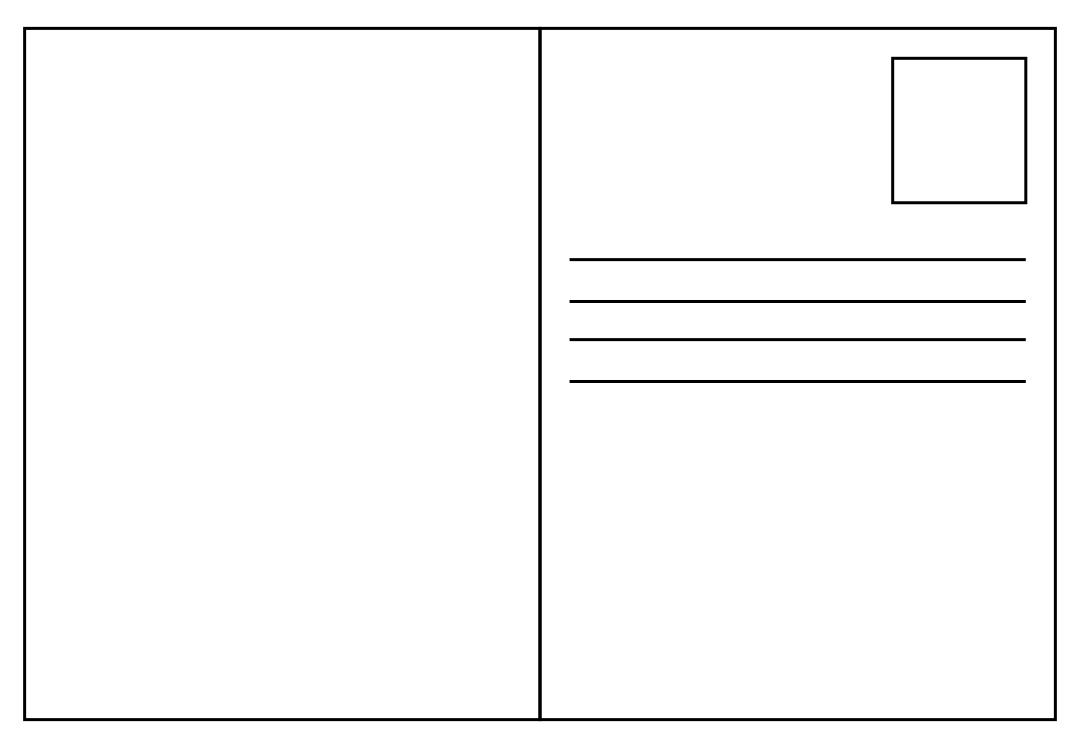 Blank Printable Postcards Templates