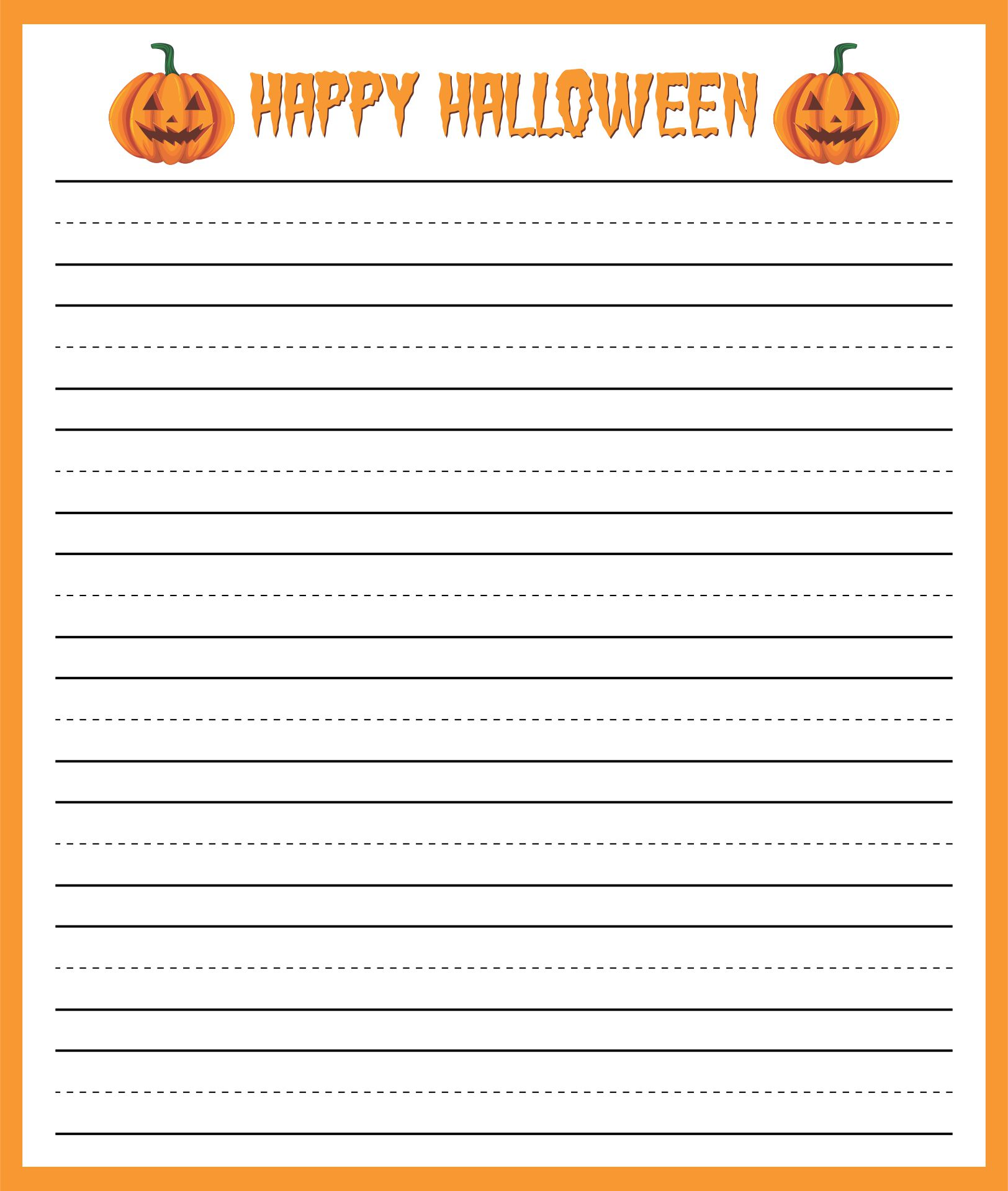 halloween writing paper for students Your students will love this 'ghost writing paper with 3-ruled lines two halloween-themed writing prompts, about trick-or-treating and jack-o'-lanterns.