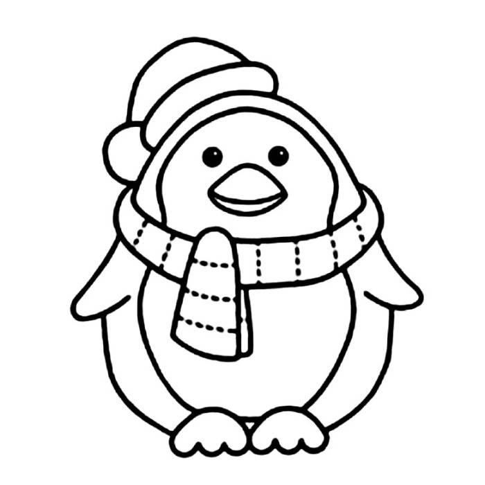 6 Images of Penguin Printable Coloring Pages