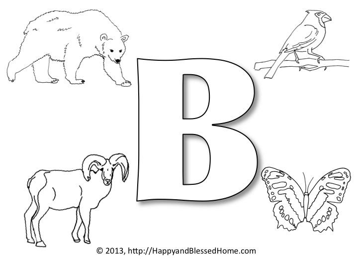 Free Printable Alphabet Letter B Worksheets