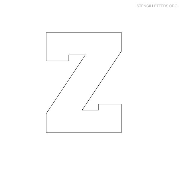 5 Images of Printable Letter Stencils Z