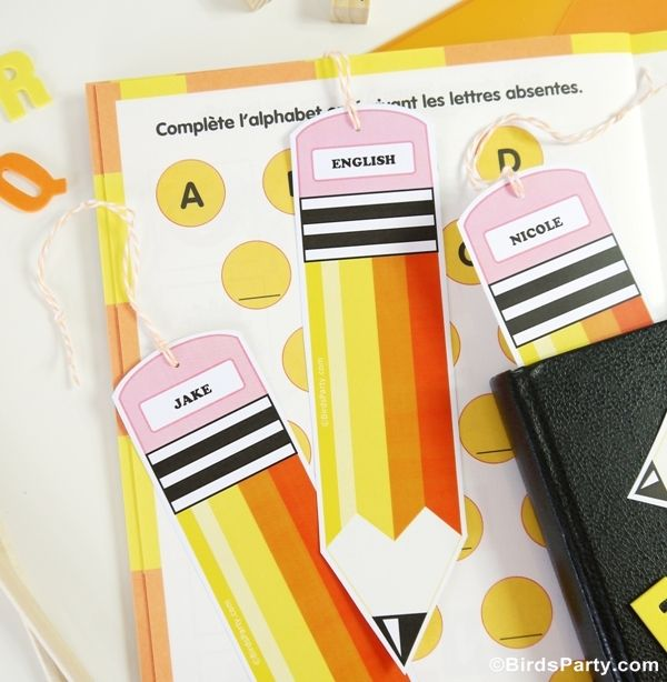 Free Printable Bookmark Pencil