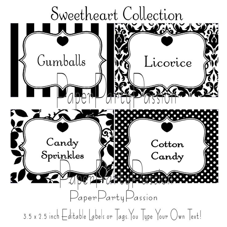 5 Images of Free Printable Candy Label Templates