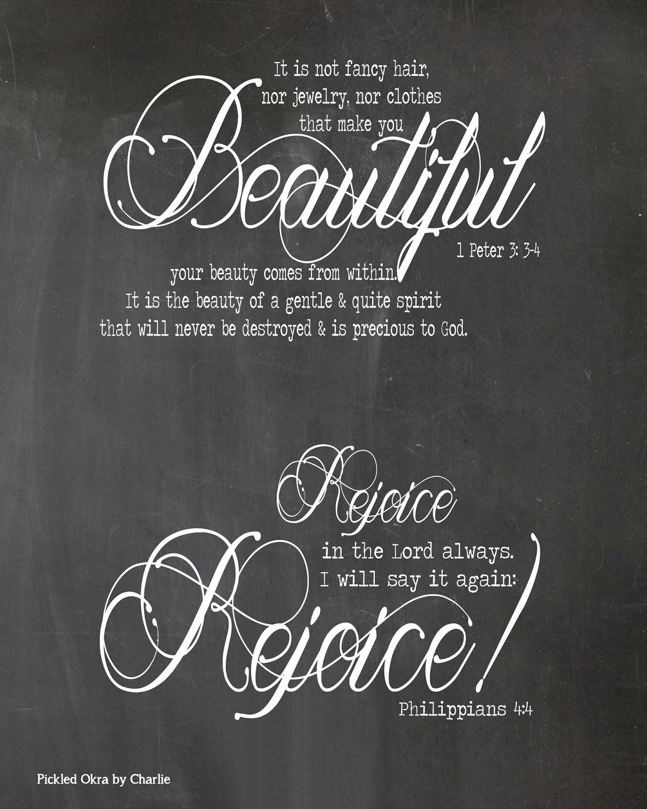 Free Printable Chalkboard Bible Verse