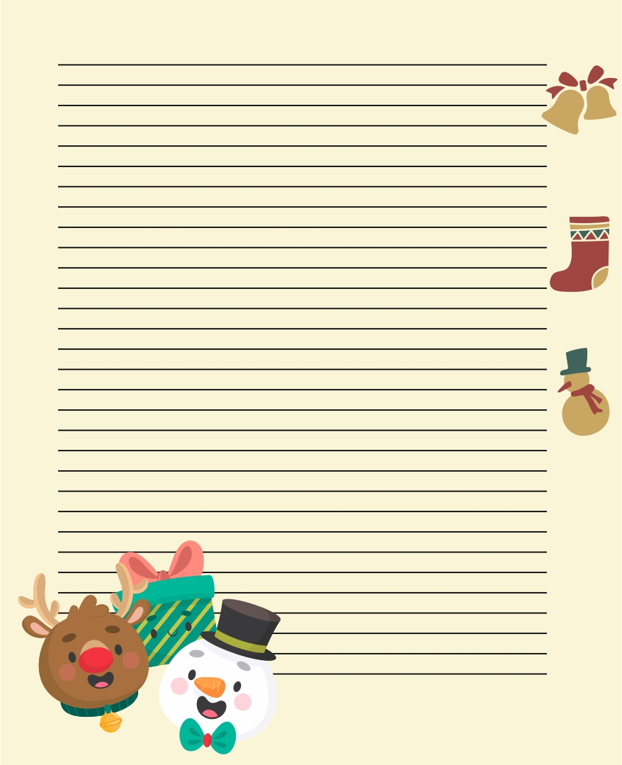Printable Christian Christmas Stationery Templates