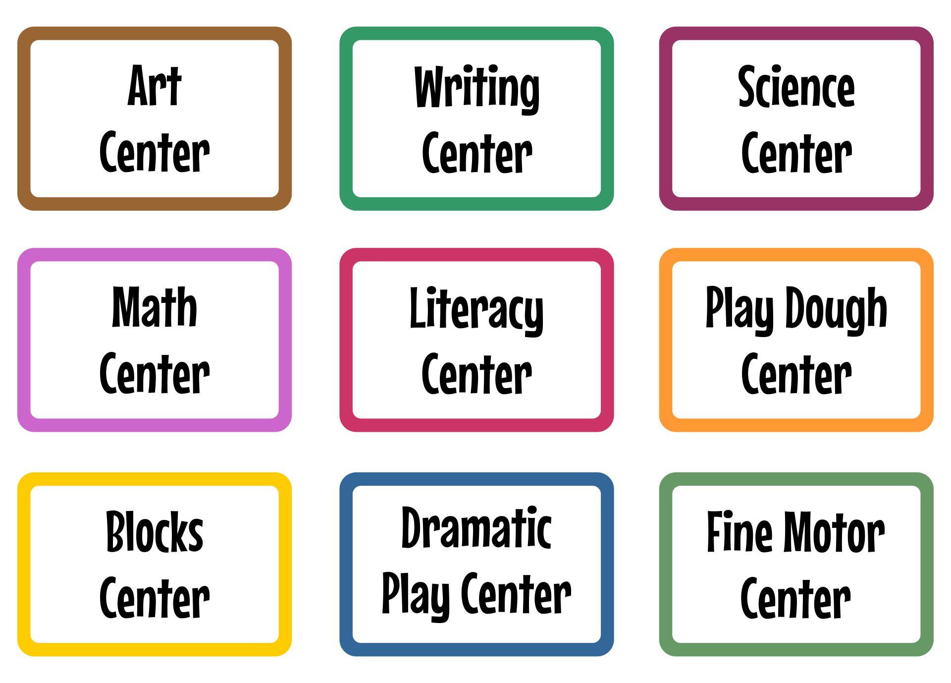 4 Best Free Printable Classroom Labels Printablee Com