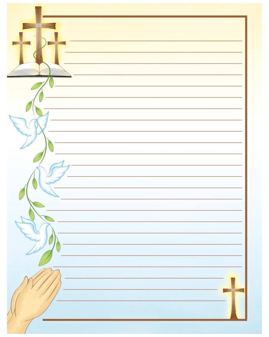 Printable Cross Stationery Letter Head