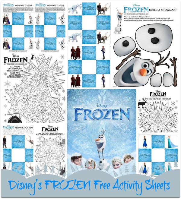 Free Printable Disney Frozen Activities