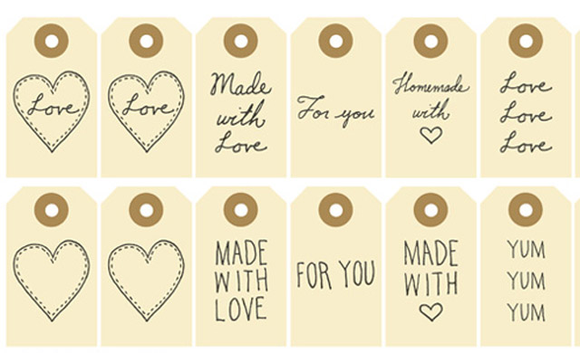 8 Images of Free Printable Made By Tags