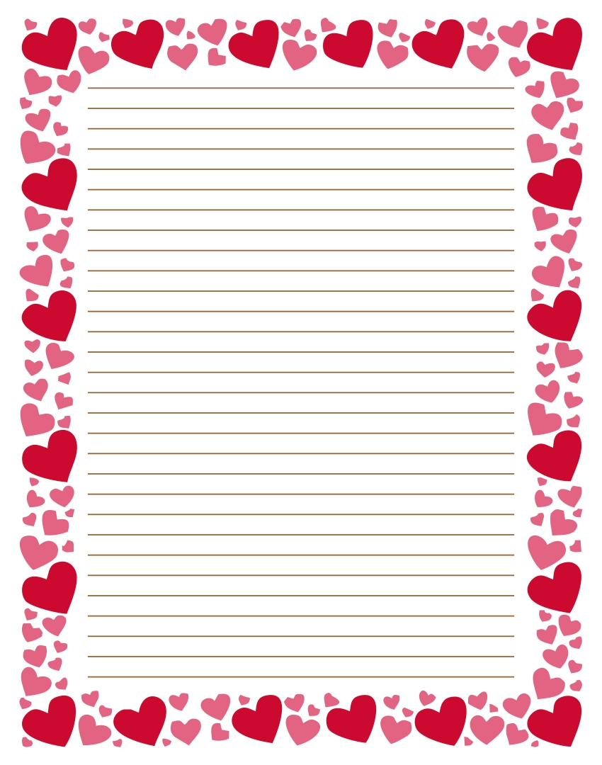 Printable Heart Stationery Paper