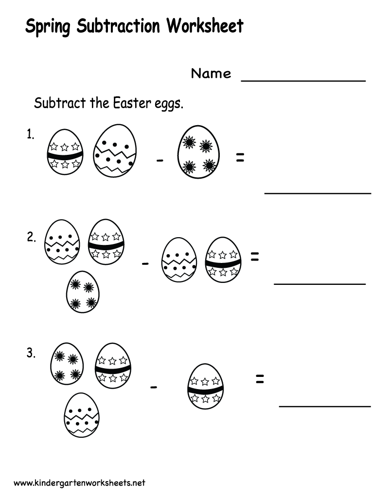 math worksheet : 4 best images of kindergarten math worksheets subtraction  : Kindergarten Math Subtraction Worksheets