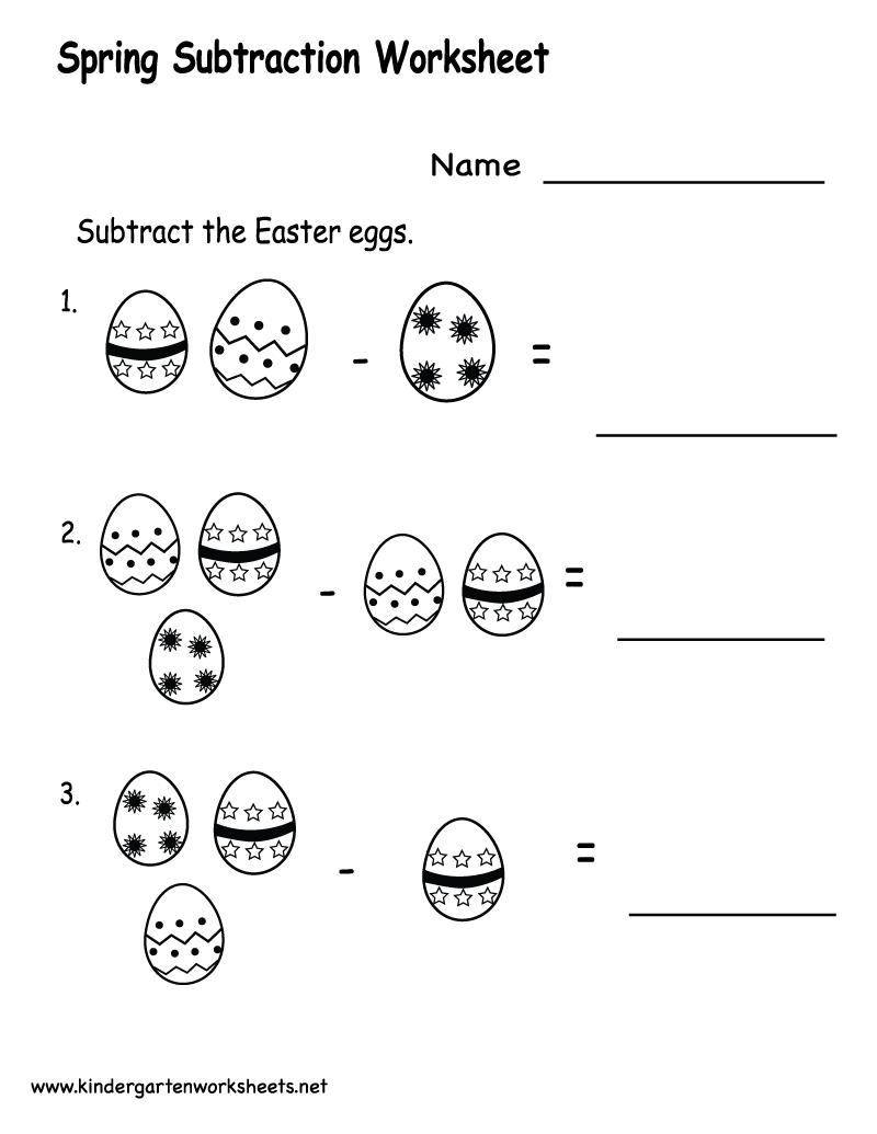 4 best images of kindergarten math worksheets subtraction