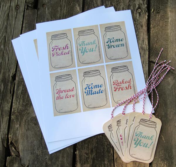 4 Images of Mason Jar Printable Tags