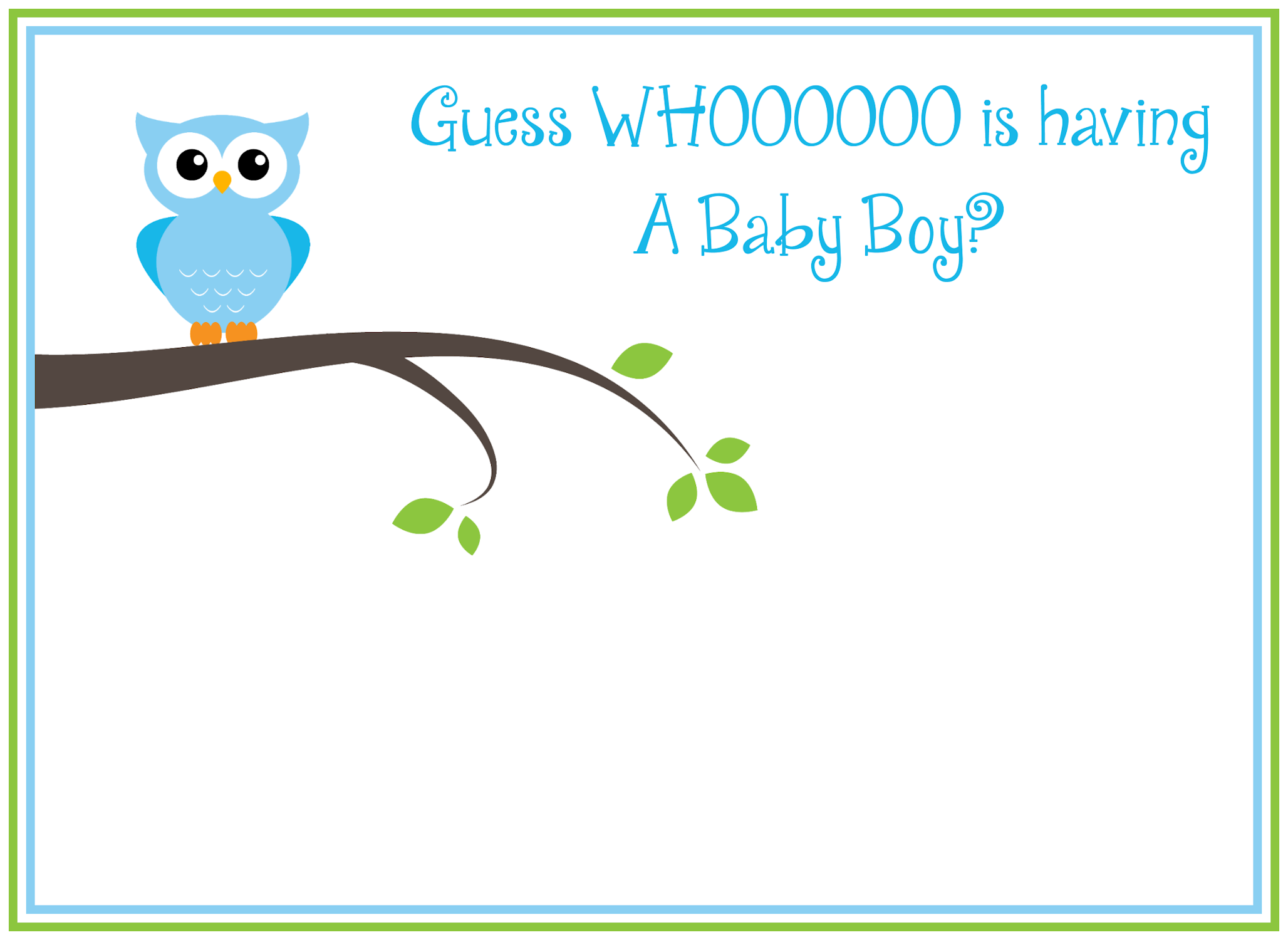 8 Images of Free Printable Owl Baby Shower Boy