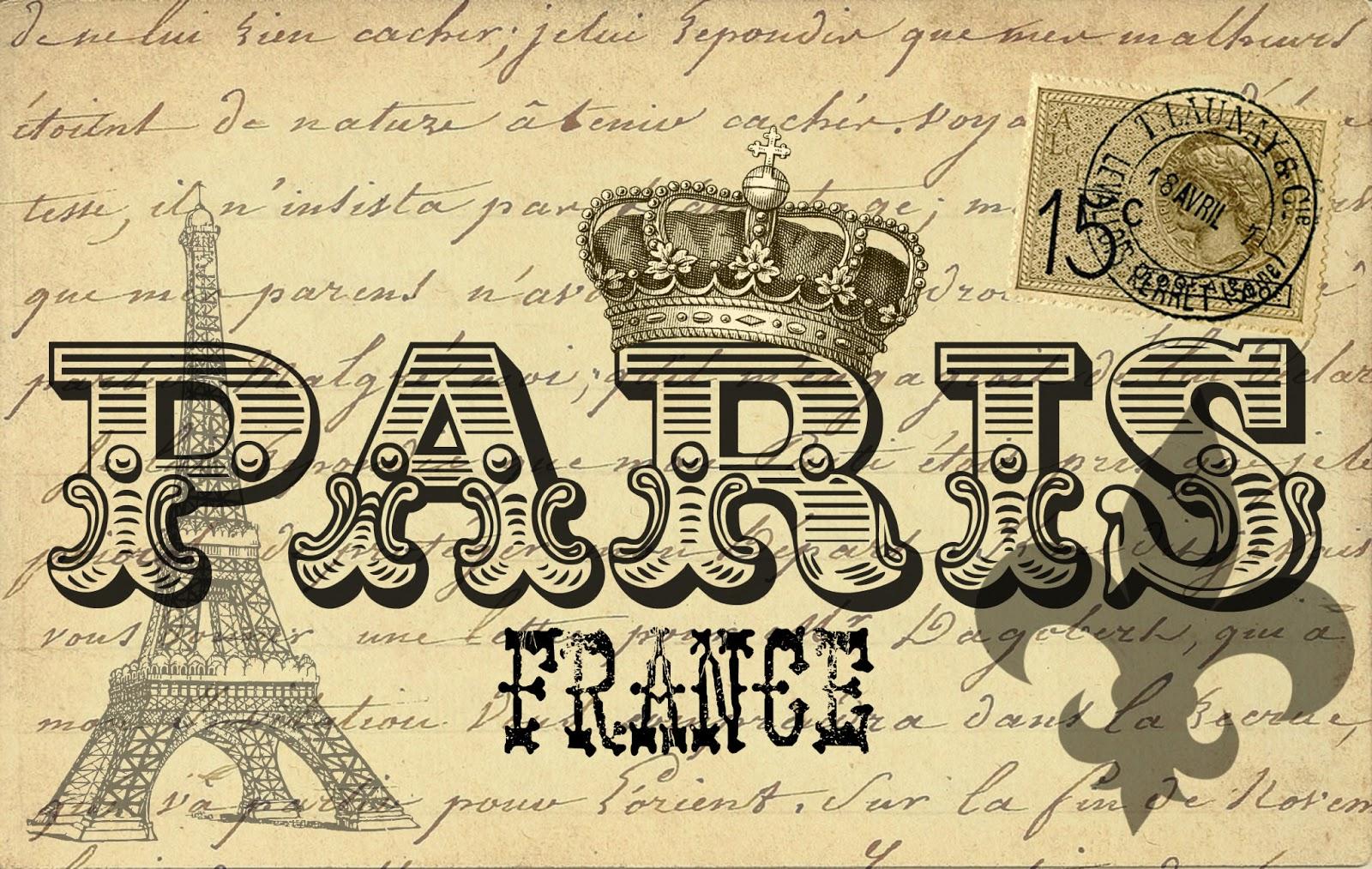 7 Images of Printable Vintage Paris Postcard