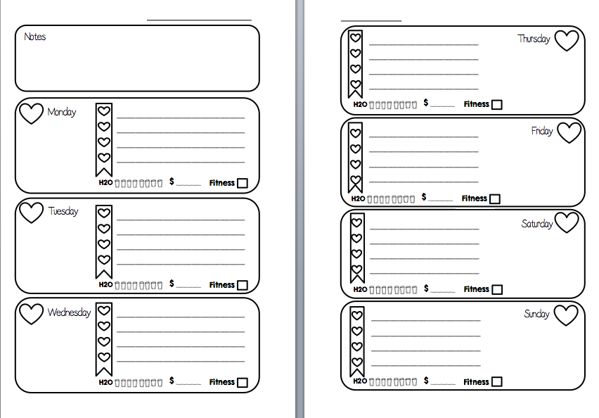 6 Images of Free Personal Filofax Printable Inserts