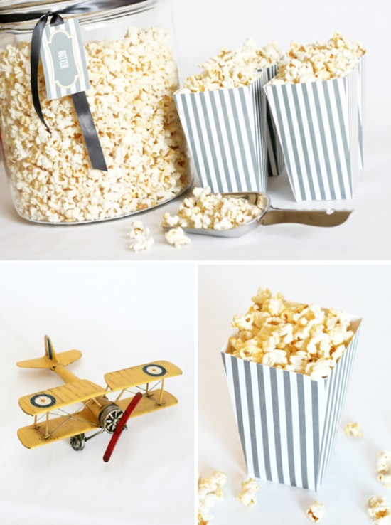 8 Images of Printable Popcorn Boxes To Make