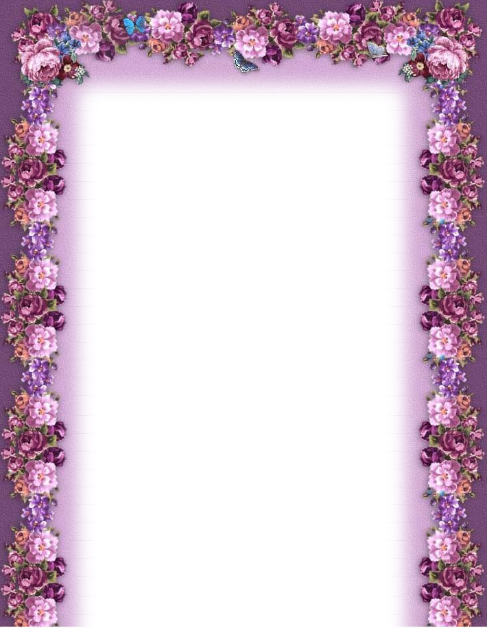 7 Images of Free Printable Flower Borders