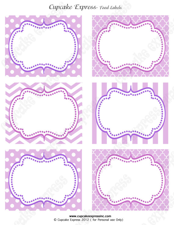 Free Printable Purple Labels