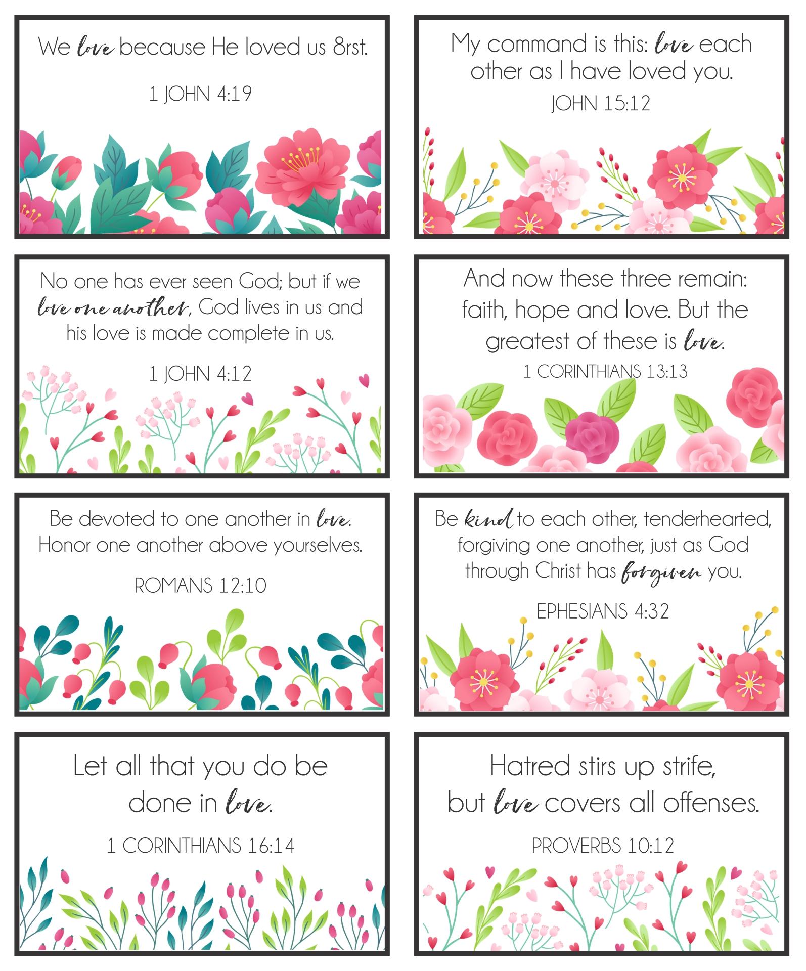 Printable Religious Valentine Day Cards