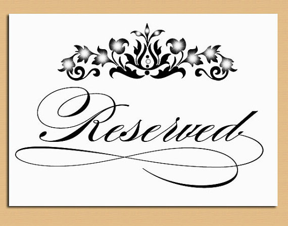 9 best images of free printable wedding card table sign for Table reservation card template