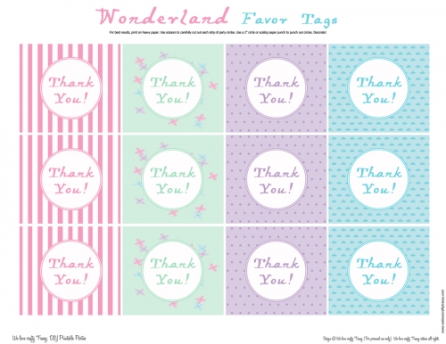 5 Images of Thank You Favor Tags Printable
