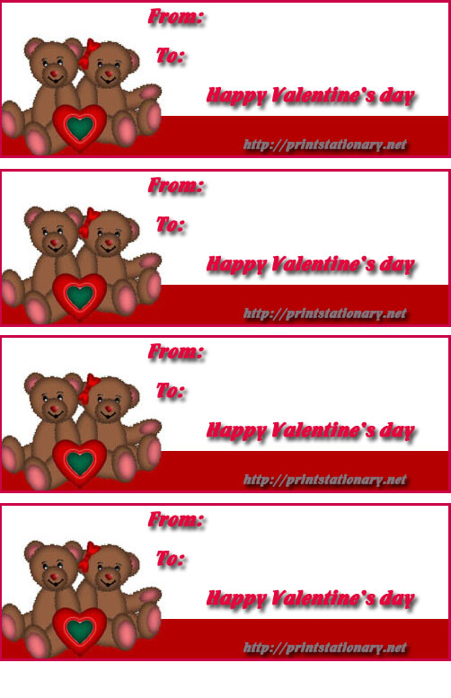 7 Images of Free Printable Valentine Label Templates