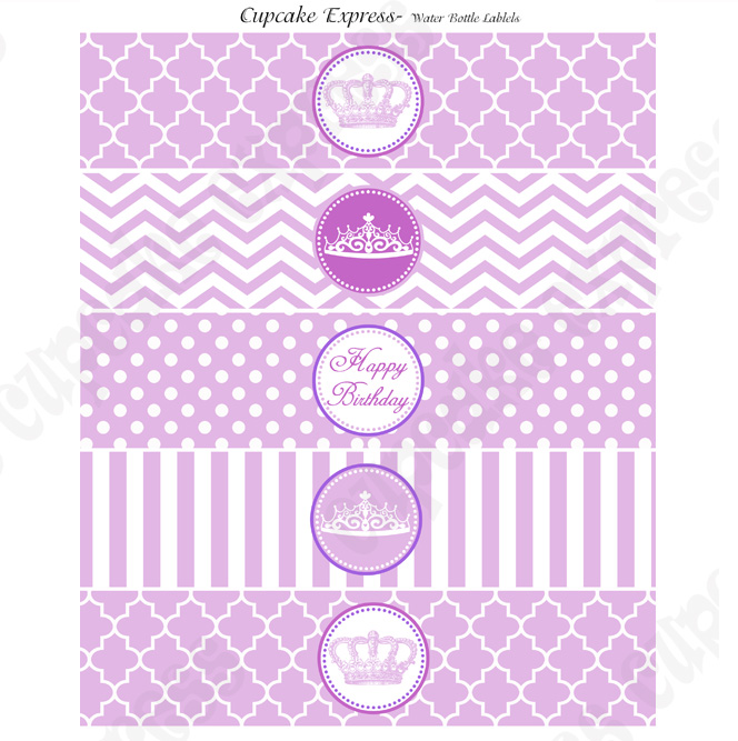 6 Images of Free Printable Birthday Purple Label