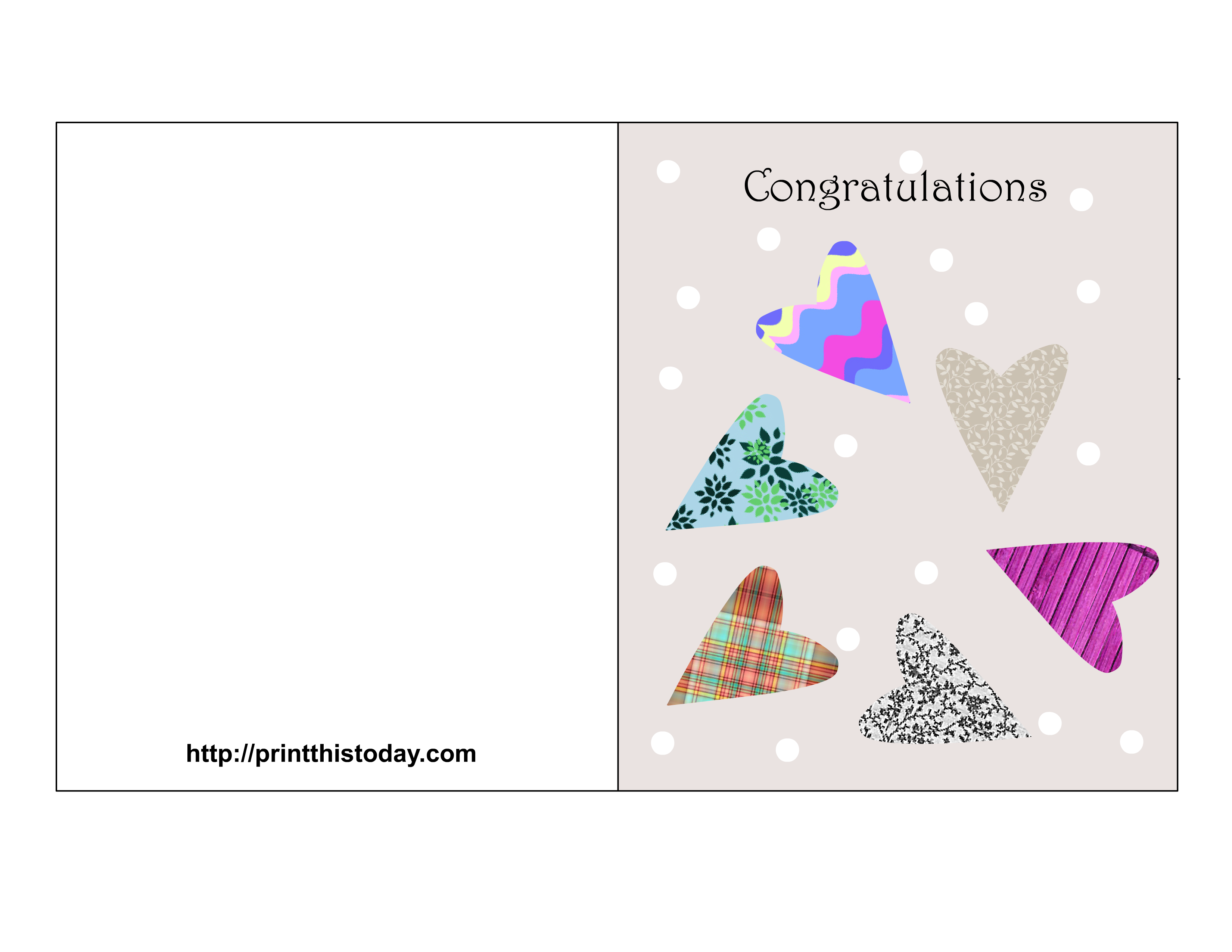6 Images of Free Printable Congrats Cards