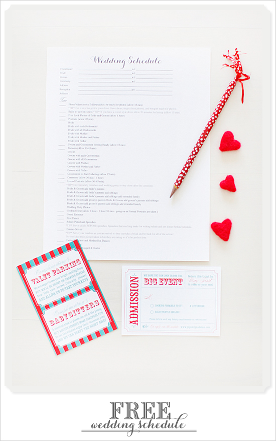9 Images of Wedding Schedule Free Download Printable Templates