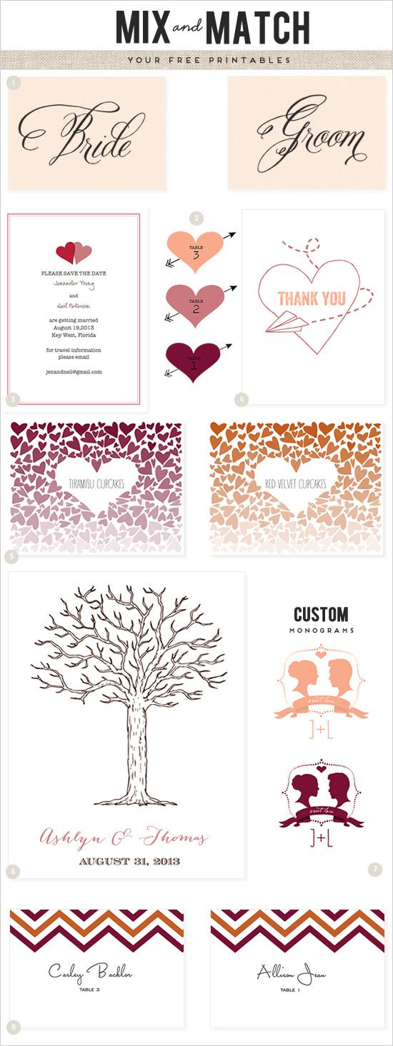 Printable Wedding Menu Cards Free – Wedding Invitation Ideas
