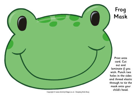6 Images of Free Printable Frog Mask