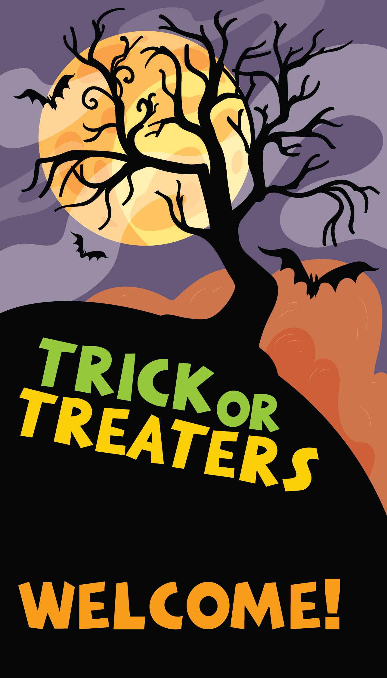 Halloween Trick or Treat Door Signs Printable