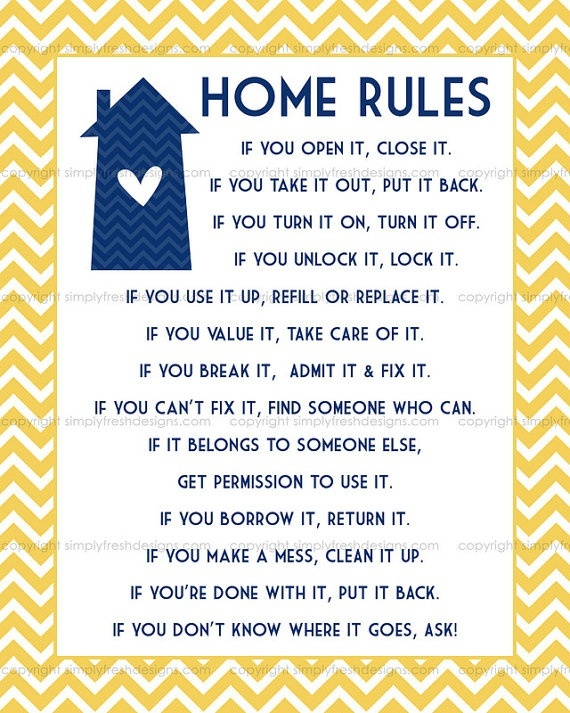 8 best images of house rules printable for guests family for Rental house rules template