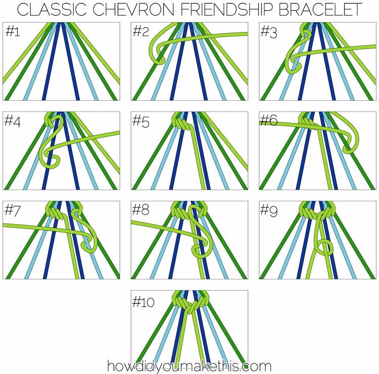 4 Images of Printable Friendship Bracelet Patterns