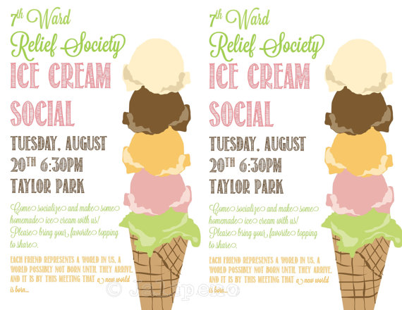 7 Images of Printable Ice Cream Social Flyer