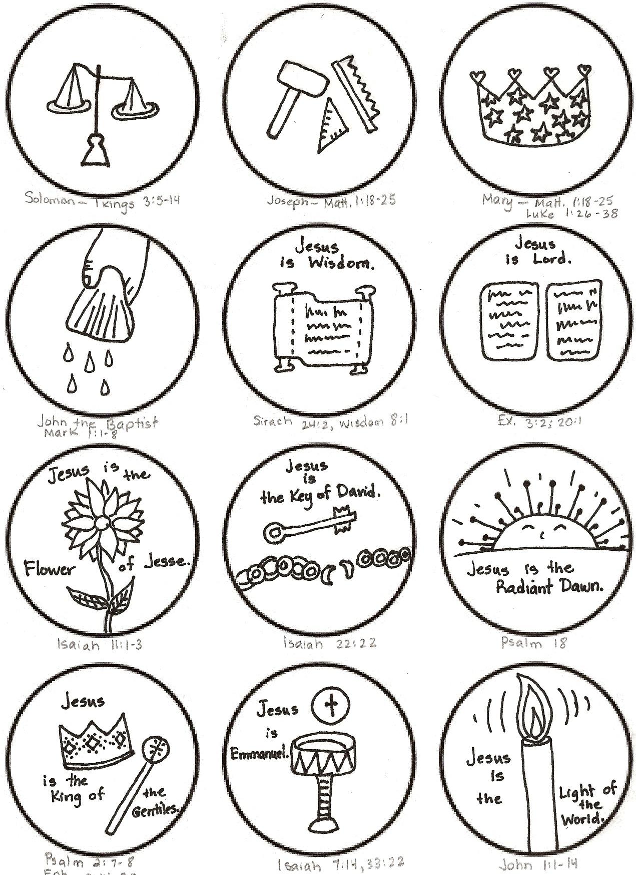 Jesse Tree Printable Symbols | www.galleryhip.com - The Hippest Pics