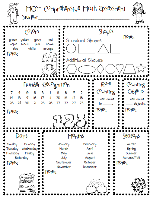 5 Images of Free Printable Preschool Assessment Checklist