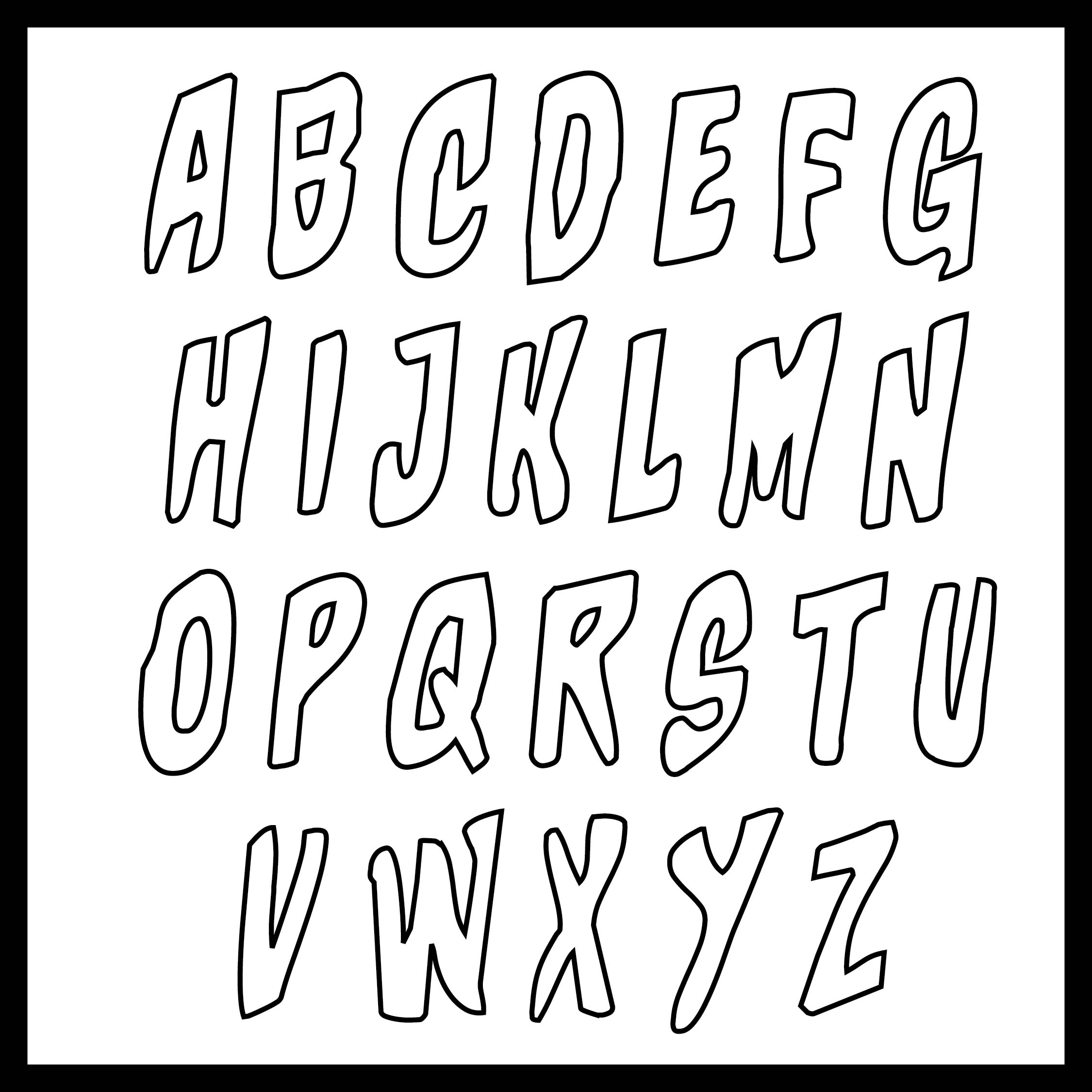 9 Images of Large Font Printable Letters