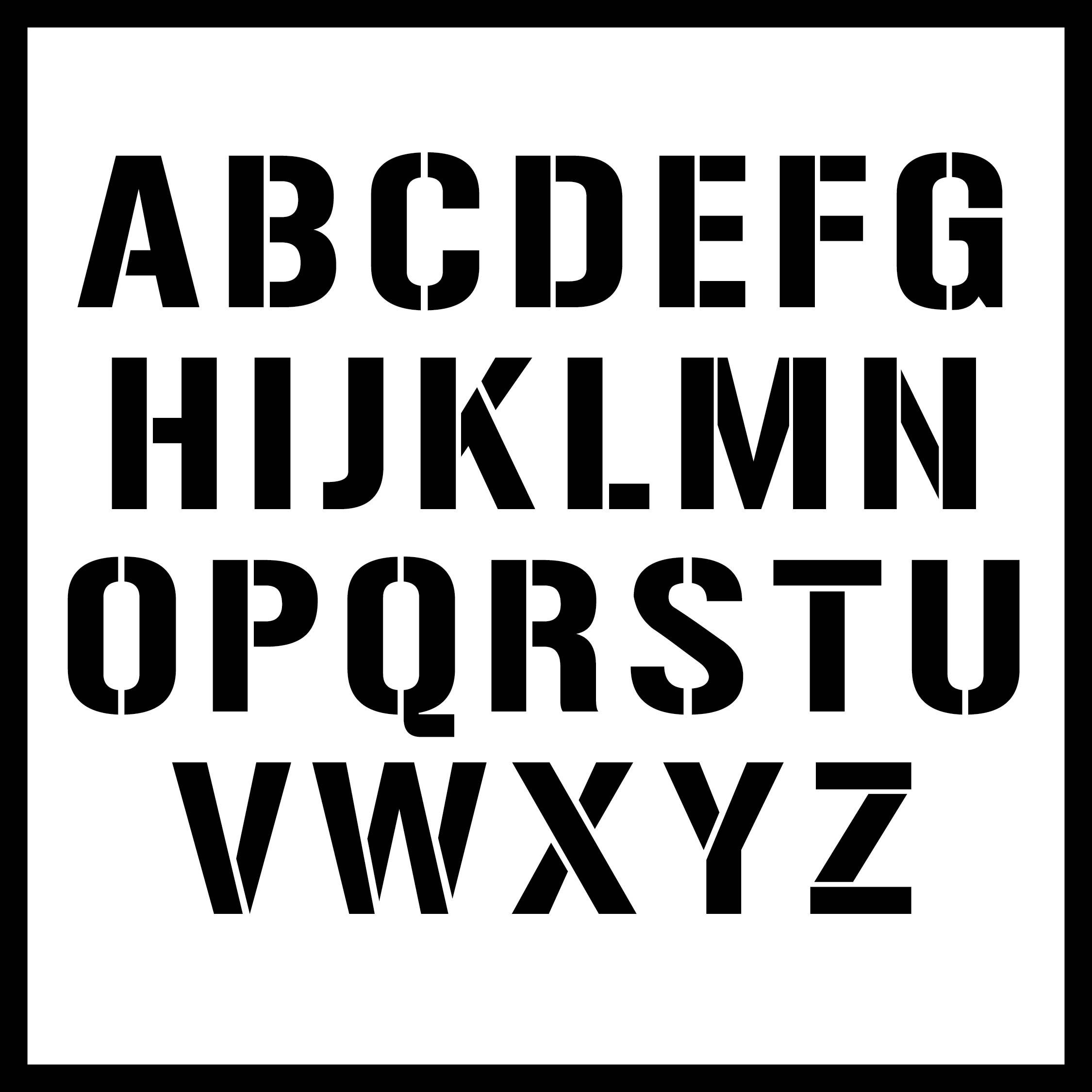 Large Size Alphabet Letter Printable Stencil