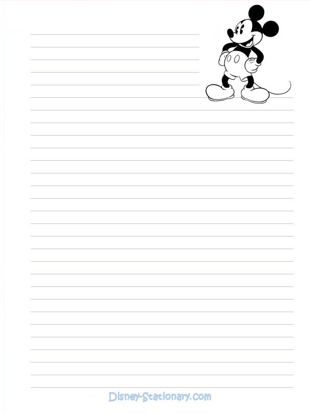 5 Images of Mickey Mouse Printable Stationary