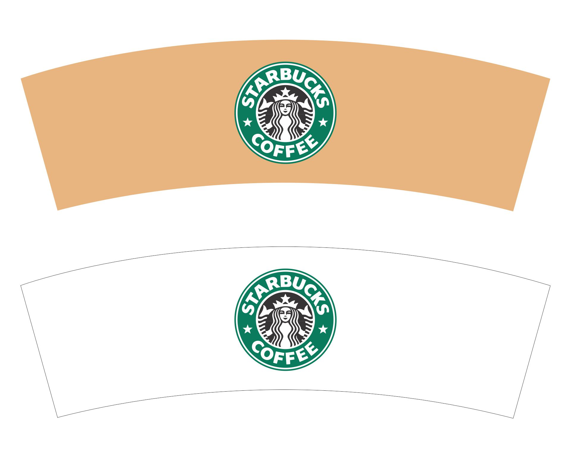 Mini Starbucks Cup Template