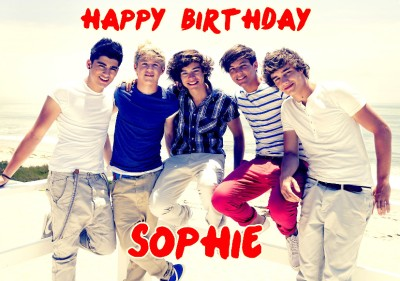 One Direction Birthday Cards gangcraftnet – One Direction Birthday Greeting