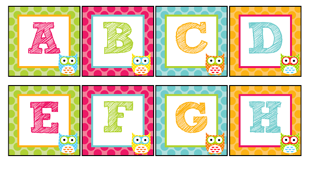 7 Images of Owl Alphabet Printable