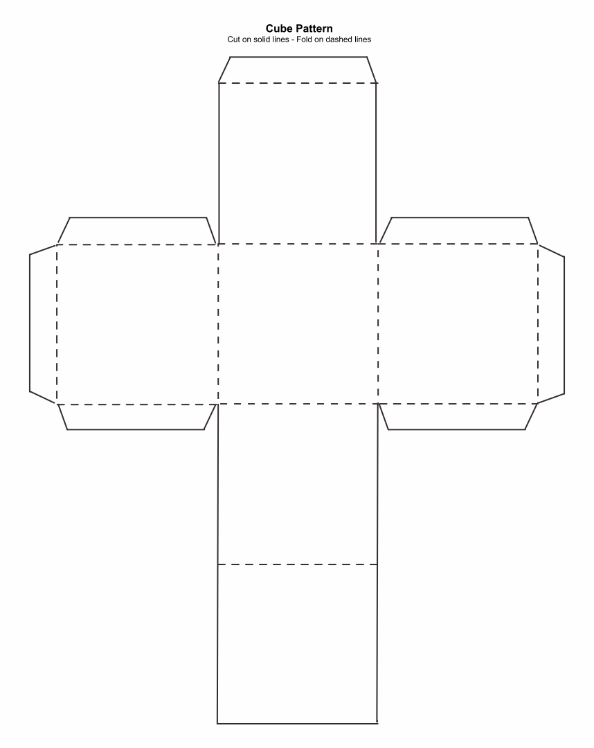 Paper Cube Template
