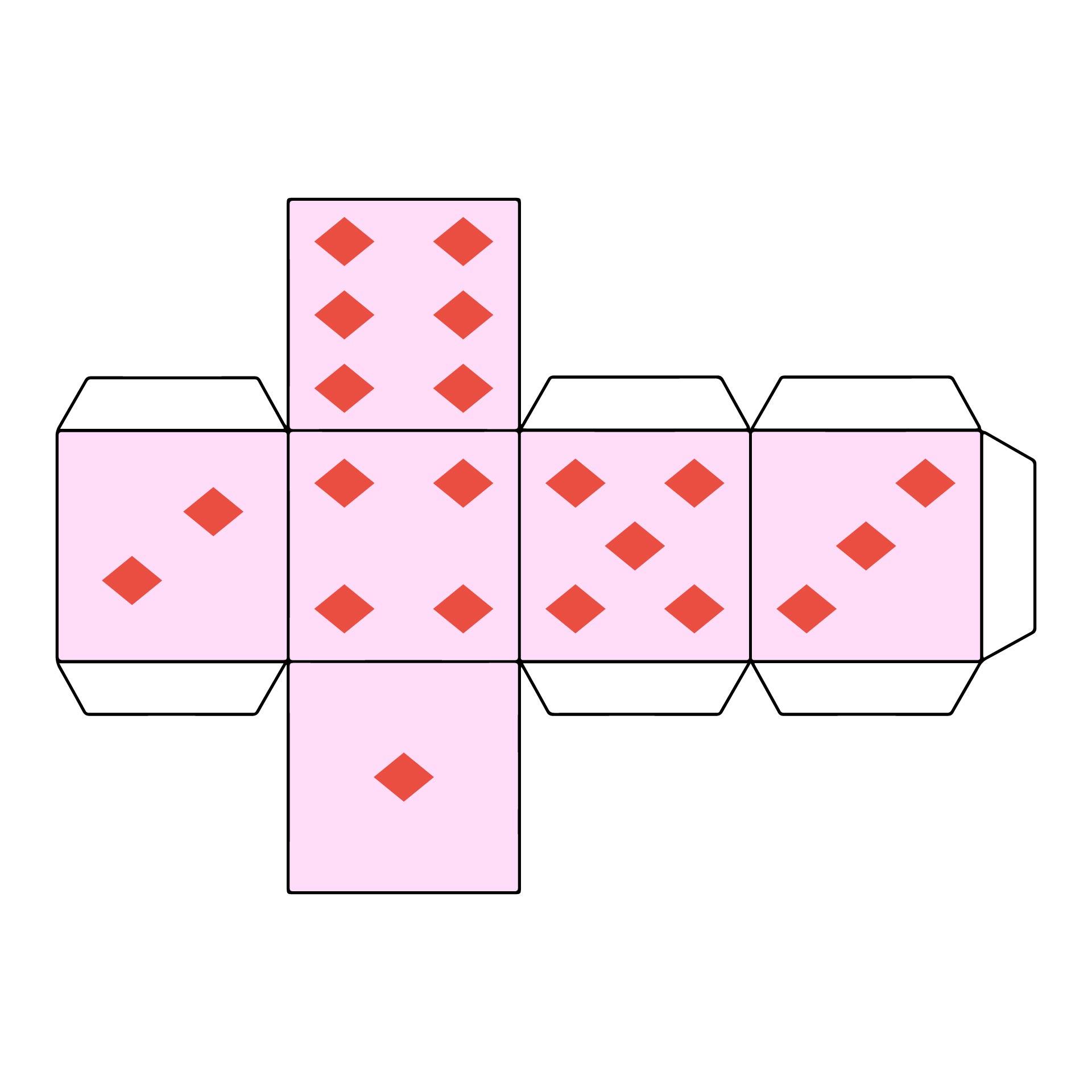 Paper Dice Cube Template