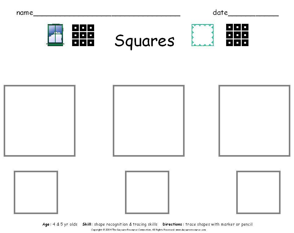 5 Images of Printable Square Kindergarten