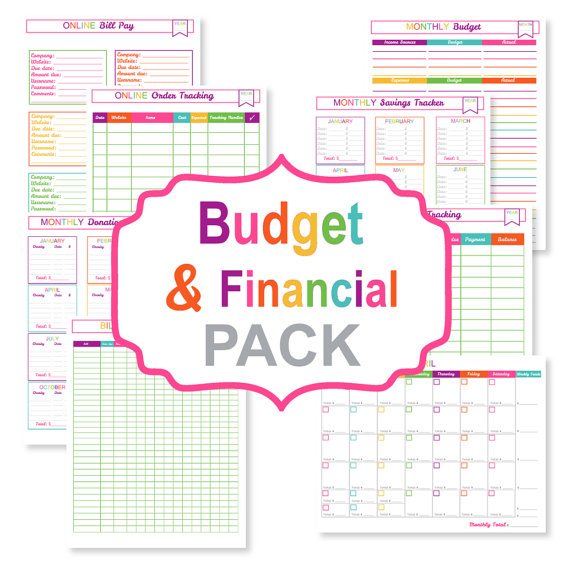 6 Images of Cute Bill Organizer Printable